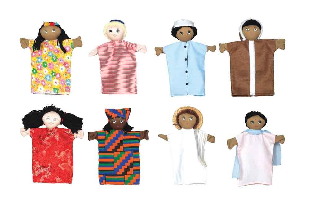 8多文化人形の子供の工場CF100-825セット   B000F8XD06