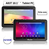 Dragon Touch A1X Plus 2016 Edition 10.1 inch Quad Core Tablet, Android OS, 1GB RAM 16GB Nand Flash, HD Display 1024x600, Bluetooth, Mini HDMI Output