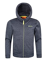 Mountain Warehouse Nevis Fur Lined Kids Hoodie Grey 9-10 years