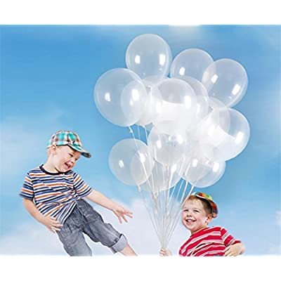 100pcs 12 Inch 2.8g/pc Clear Latex Balloons Transparent Balloon Wedding/Party/Brithday Decoration Ball Globos