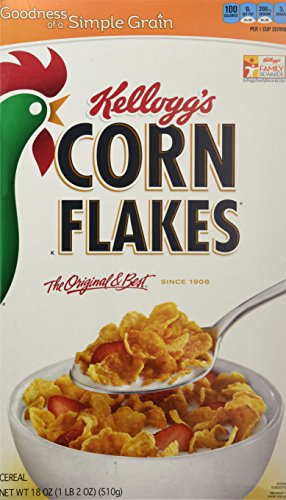 Corn Flakes Cereal, Original, 18-Ounce Boxes (Pack of 3)