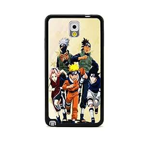 ecenter - Dibujos animados Naruto Naruto Sasuke Sakura Kakashi Iruka negro Bumper plastique + cas de TPU couverture for Samsung Galaxy Note 3 III N9000 N9005 N9006 N9009