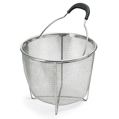 "Polder KTH-1008-75RM Essential Cook's Colander, 5.6-Quart Capacity, 8"" x 9.5"", Stainless Steel"