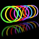 "Joyin Toy Glow Sticks Bulk 400 8"" Glowsticks (Total 800 Pcs 7 Colors); Glow Stick Bracelets; Glow Necklaces Party Favors Pack with 400 Bracelet Connectors."