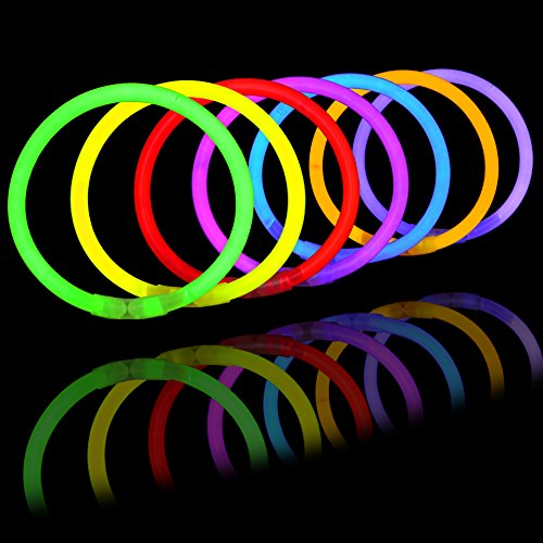 300 Pack Glow Sticks with 100 22'' Necklaces + 200 8'' Bracelets; Connector Included; Glowstick Bundle Party Favors, Glow in the Dark Party Bulk Supplies, Neon Light Up Accessories for Kids and Adults. by JOYIN (Image #6)