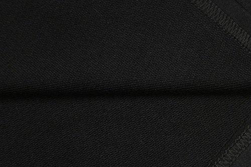 Bordo Un Dal Vestire Vestito Con A Manica A Linea Maglia Maglione Abiti Rigonfiamenti Irregolare Nere Mini Maniche Maglia Vestito Lunga Sq7z1nF