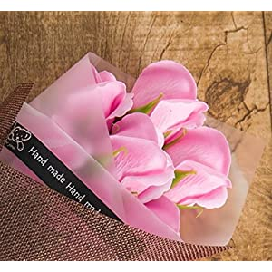 Artificial Red Roses in a Gift Box - Scented Rose Petals Gifts For Her (Pink) 4