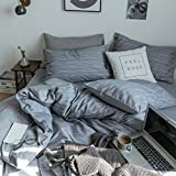 Hyprest Geometrical Cotton Duvet Cover Set Queen/King/Twin Simple Printed Bedding Collection by (Twin, Style 5)