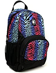 Tribeca Multi Color Zebra Stripe Backpack