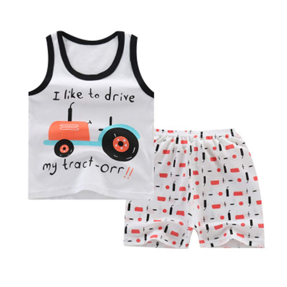 Mumeiduo Baby Boy Summer Clothing Set Sleeveless Top Short Pants Clothes Outfits Set
