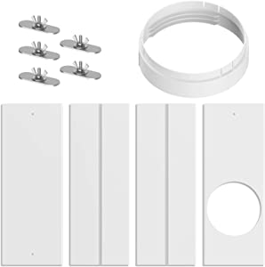 Tomato Man Portable Air Conditioner Window Kit,Portable AC Replacement Window PVC Sealing Bracket, Adjustable Sliding AC Ventilation Kit, Mobile Air Conditioner Suitable for Exhaust Hose (5.9INCHES)