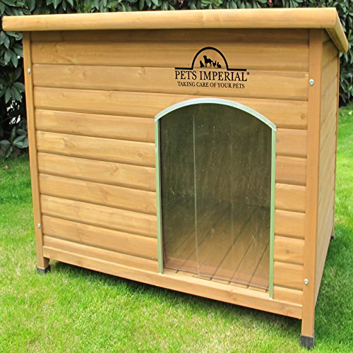 Pets Imperial Extra Large Insulated Norfolk Wooden Dog Kennel With Support Rails and Removable Floor For Easy Cleaning