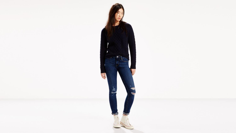 Levi's 18881 Women's 711 Skinny Jeans, Damage Is Done - 34L x 30W