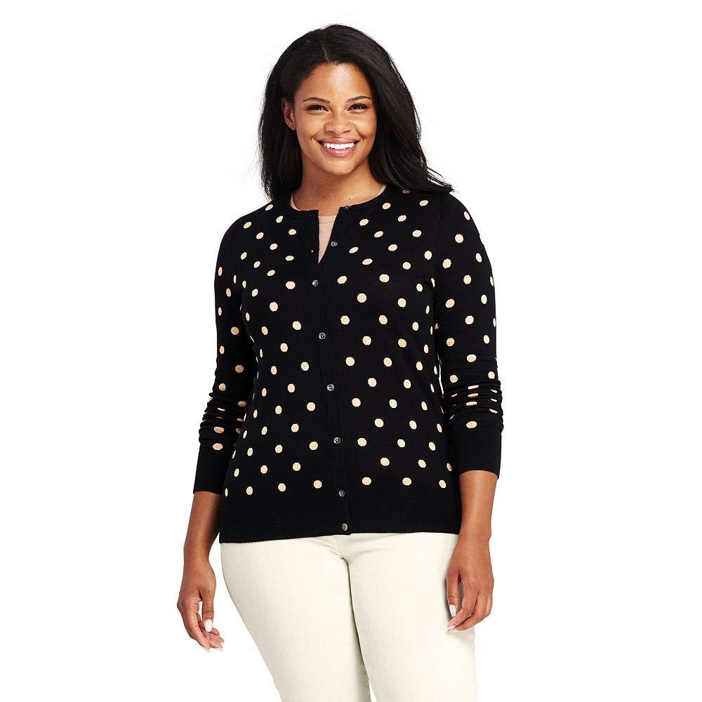 47313a21b9e Lands  End Women s Plus Size Supima Intarsia Cardigan Sweater