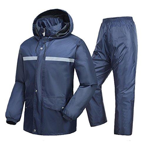 HGXC WY Chubasquero de Ciclismo, Aumento de Pantalones Impermeables a Prueba de Agua al Aire Libre de la Lluvia del...