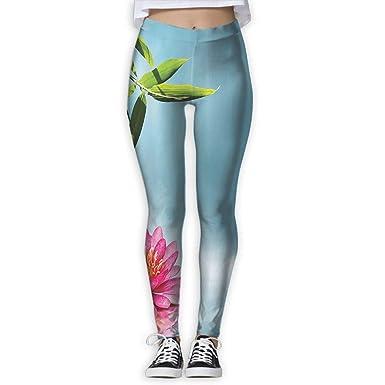 c29f3f3ae66c1 Women's Printed Leggings Yoga Workout Leggings Pants - Lily Lotus Flower and  Rocks Prints for Dkhh