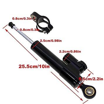 XuBa moto universale CNC regolabile ammortizzatore di sterzo Balance stabilizzatore manubrio STABILIZER universale ufficiale portiere Titanium righello