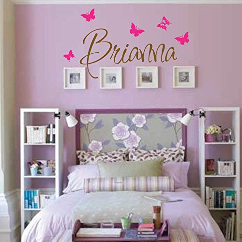 Personalized Monogram Kids Wall Decals - Girls Wall Decal- Name Vinyl Lettering - baby girl nursery wall decal Brianna