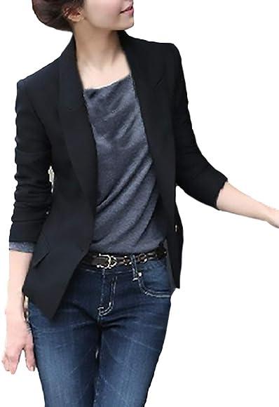 diseñador de moda Productos mejor barato Mujer Chaquetas De Talla Grande Fashion Elegantes Negocios Oficina ...