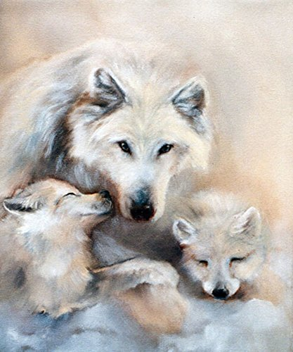 RunFar Wolf Pattern DIY 5D Diamond Embroidery Painting Cross Stitch Craft Diamond Painting By Number Kits Home Decor Gift