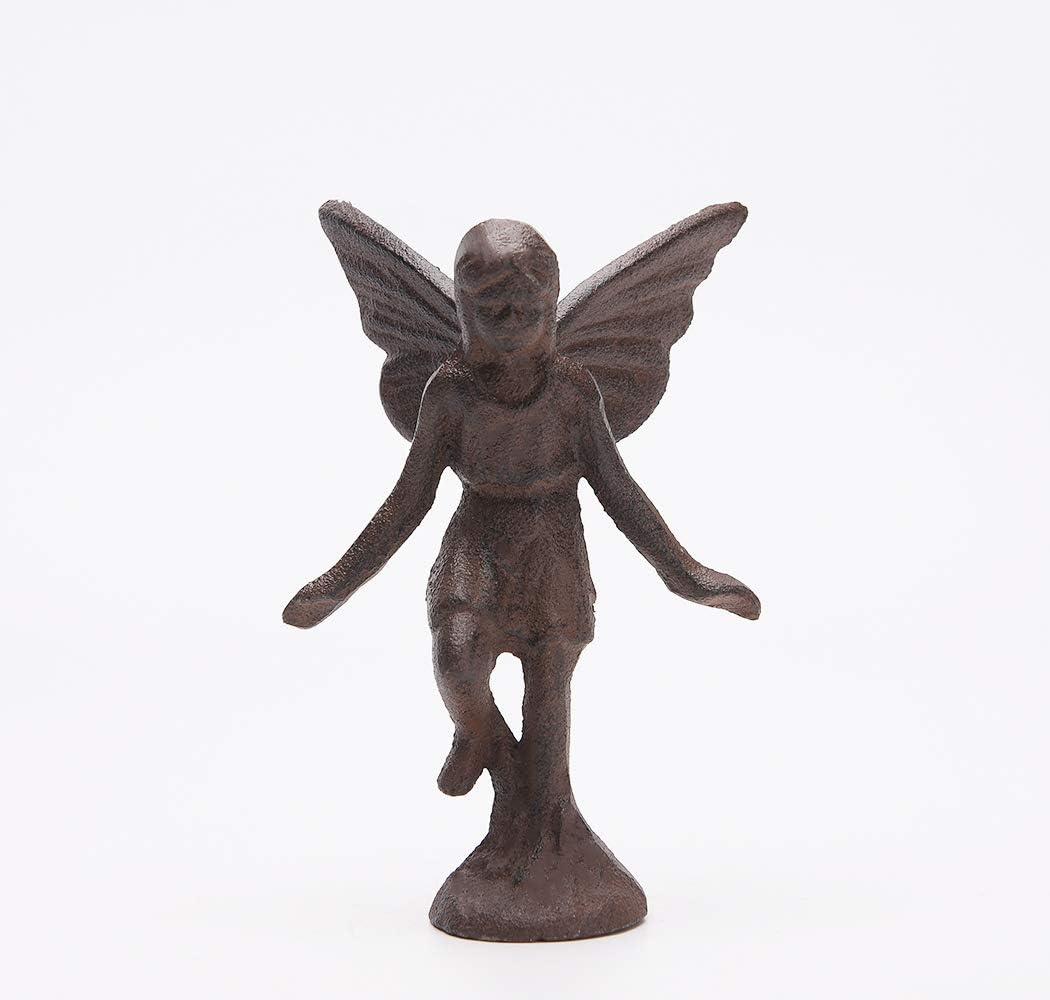BRASSTAR Cast Iron Fairy Statue Collection Garden Home Office Desk Fairy Tale Decor Elf Angel Figurine PTWQ010