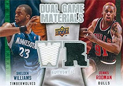 low priced 7ff61 e57ce Amazon.com: Dennis Rodman & Sheldon Williams player worn ...