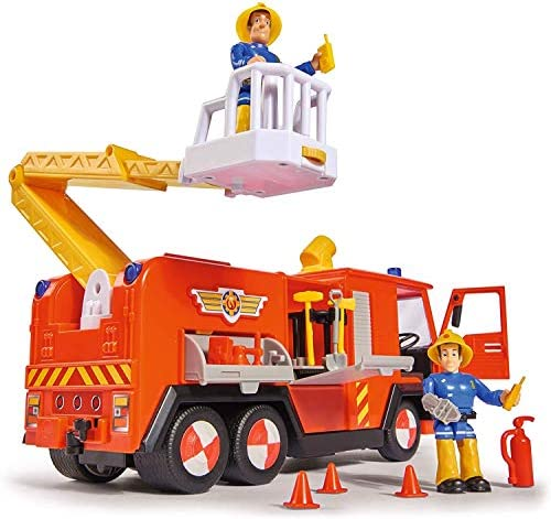 Fireman Sam SAMS Fire Truck Deluxe Jupiter Ages 3+ Includes and Penny Action Figure Set