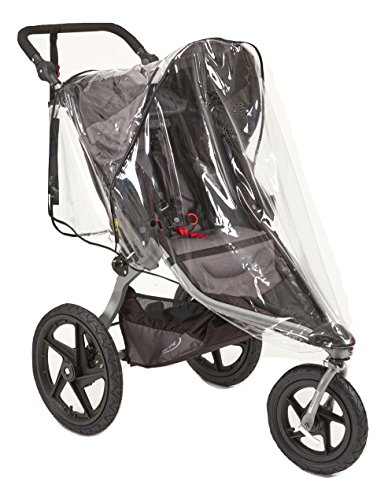 Sashas''Peekaboo Friendly Series'' Rain and Wind Cover for BOB Revolution Flex Single Jogging Stroller by Sasha Kiddie Products (Image #1)
