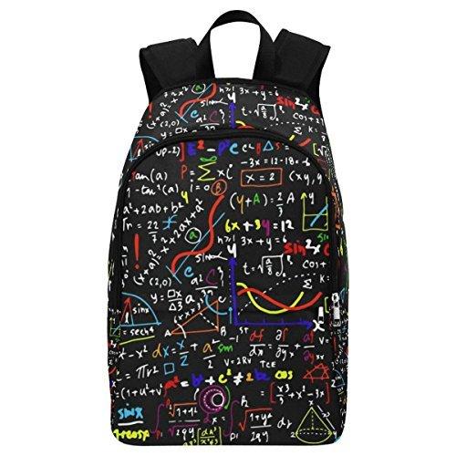 InterestPrint Math Linear Education Funny Casual Backpack College School Bag Travel Daypack [並行輸入品]   B07895BF4B