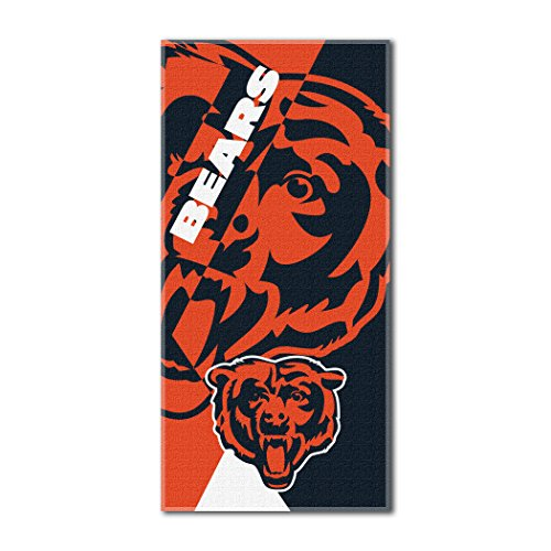 Officially Licensed NFL Chicago Bears Puzzle Beach Towel, 34