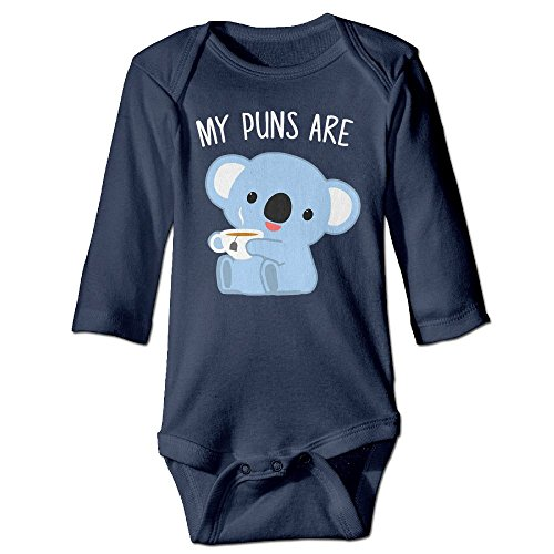LiamP Baby Onesie Girl Boy Outfit Baby Bodysuit Jumpsuit Creeper Long Sleeve Puns Are Koala Tea (Baby Koala Outfit)