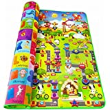 Ozoy Baby Mats Waterproof Play mat 6 x 5 FEET Extra Large Size 180 cm x 150 cm (Multi.)