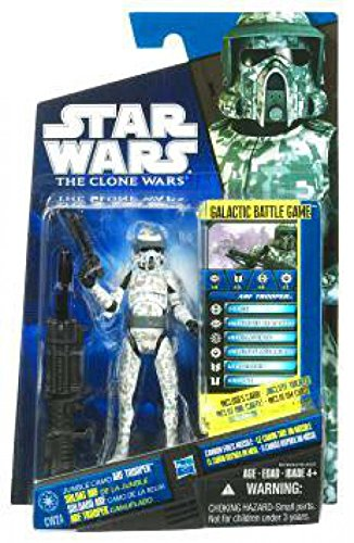 Star Wars 2010 Clone Wars Animated Action Figure CW No. 24 Jungle Camo ARF Trooper