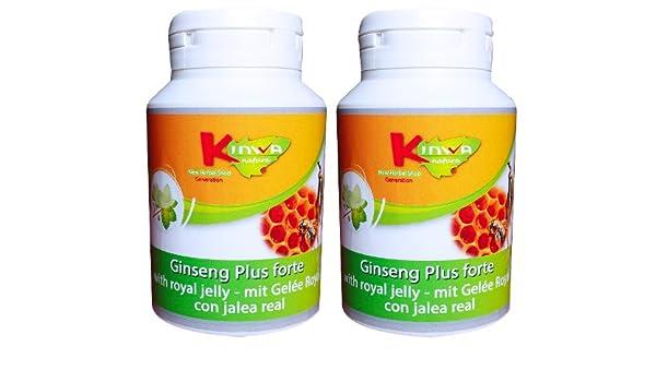 KinwaNatura Ginseng Plus forte (con Jalea real) 450mg 30% ginsenósidos 2X120 cáps: Amazon.es: Salud y cuidado personal