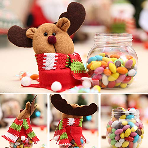HEART SPEAKER Christmas Snowman Santa Reindeer Candy Box Jar Biscuit Sweetie Container Party Decor 5# by HEART SPEAKER (Image #2)