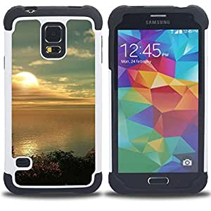 For Samsung Galaxy S5 I9600 G9009 G9008V - Nature Beautiful Forrest Green 182 Dual Layer caso de Shell HUELGA Impacto pata de cabra con im????genes gr????ficas Steam - Funny Shop -