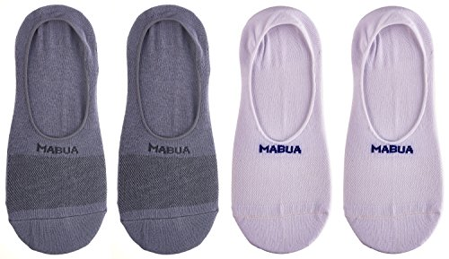 Mabua Breathable NON SLIP No Show Socks, 4 Pairs Size - (5-7.5)