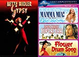 Simply 4 Musicals Music Bette middler Gypsy & Mamma Mia! Jesus Christ Superstar / Flower Drum Song Rodgers and Hammerstein classic DVD Film Collection