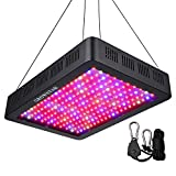 2000W LED Grow Light, Growstar Double Chips LED Grow Lamp Full Spectrum for Hydroponic Indoor Plants Flower and Veg with UV IR Daisy Chain (12-Band)