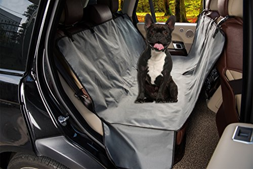 10nehomeyone Homeyone Waterproof Dog Pet Travel Back Seat Cover (Grey)