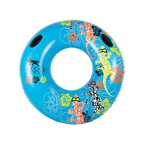 Inflatable Blue and Orange Gecko Hawaii Swimming Pool Inner Tube, 54-Inch by Swim Central (Image #2)