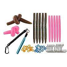 "senkos worms wacky rig tool for bass kit, Wacky Rig Tool, Wacky Hooks, 5""4"" Senko Soft Baits"