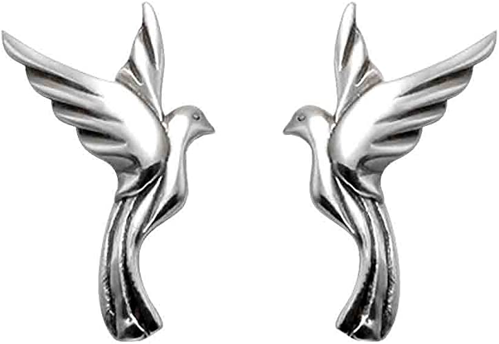 STAINLESS STEEL BIRD DOVE STUD EARRINGS