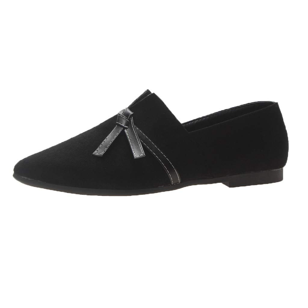 Flats Shoes Women Comfortable, NEEKEY Fashion Casual Pointed Irregular Shallow Mouth Shoes