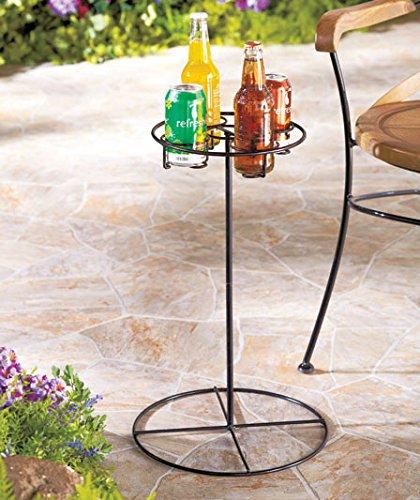 Outdoor Beverage Table (Black)