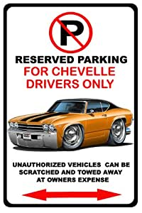1969Chevrolet Chevelle SS muscular car-toon no parking sign