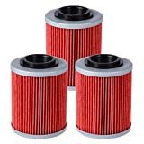 Anxingo 3pcs Oil Filters fit CAN-AM COMMANDER BOMBARDIER OUTLANDER MAX 330 400 650 800 500 1000 DS650 DS650X BAJA Replace HF152 & KN152
