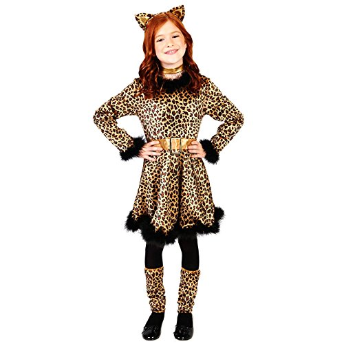 Leopard Dress Child Costume M (8-10) (M&m Dress Costume)