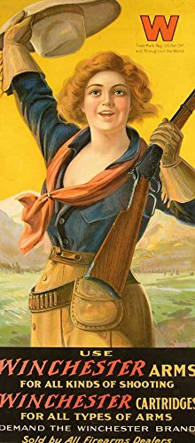 Winchester Arms Vintage Gun Advertising Reproduction Rolled Canvas Print 17x34 in.