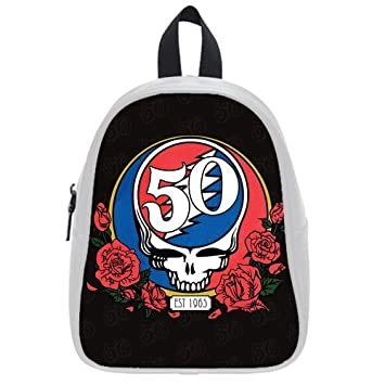 b9f46e51155c Grateful Dead Skull Logo Custom Casual Backpack Students School Bag Laptop  Bag Hiking Bag Outdoor Sports Backpacks (Large)  Amazon.ca  Home   Kitchen